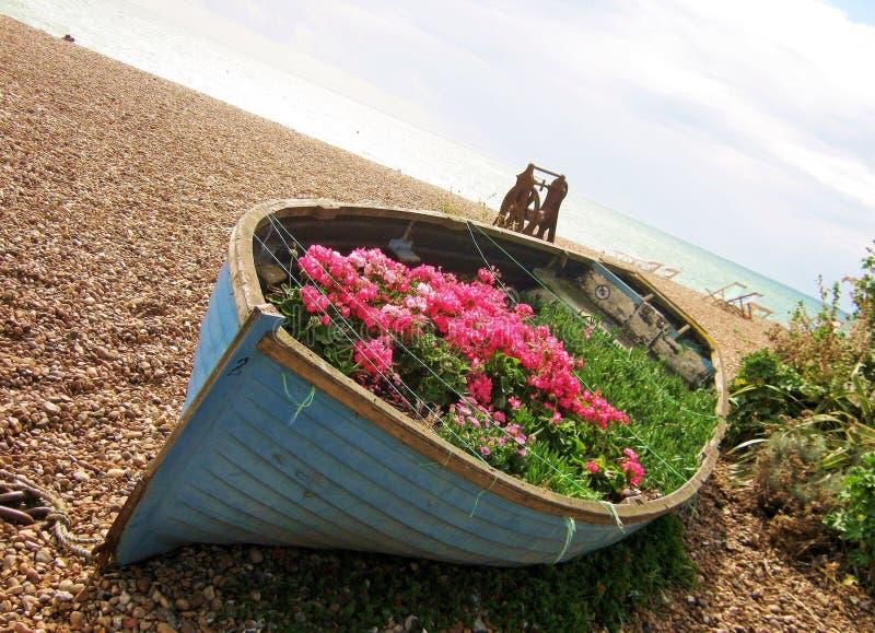 Blumenboot lizenzfreies stockfoto