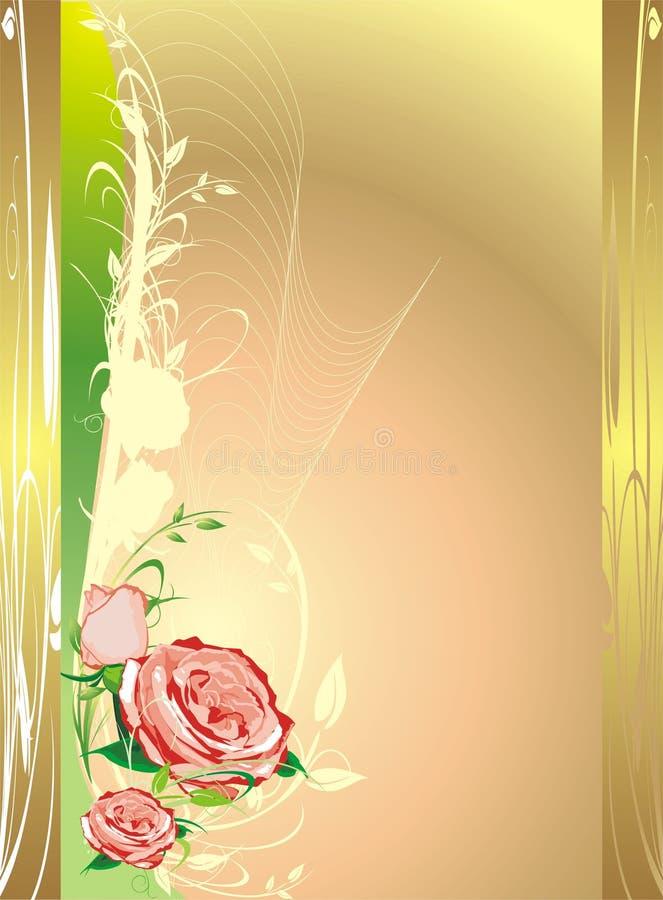 Blumendekor für holidayâs Karte. Blumenstrauß der Rosen lizenzfreie abbildung