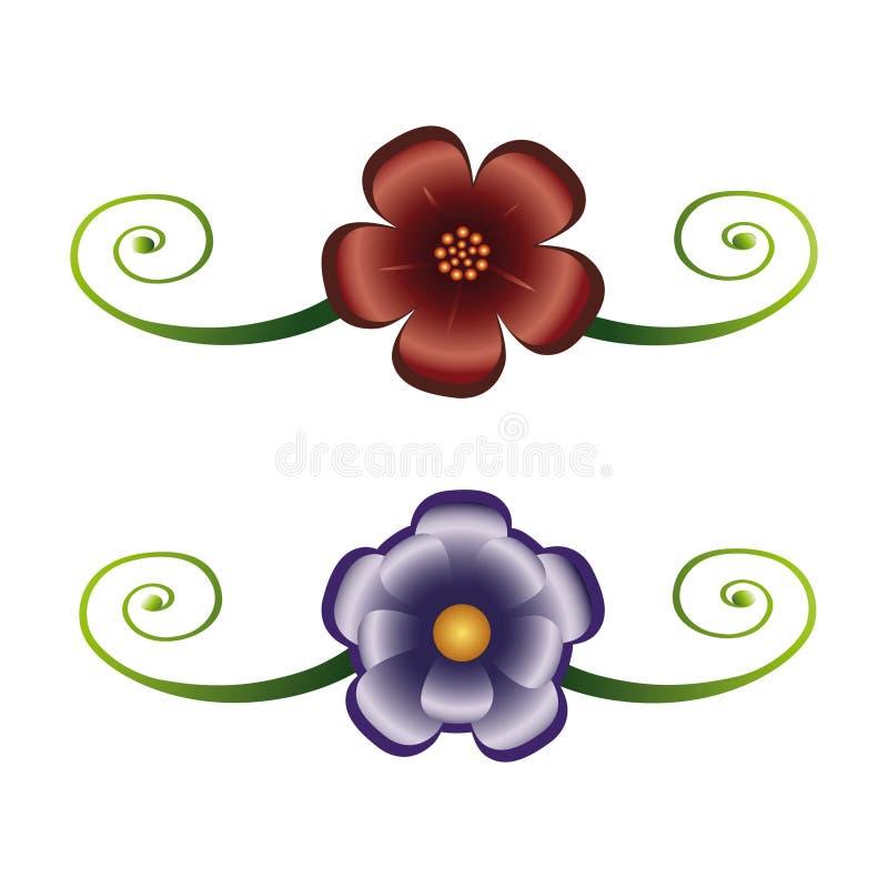 Download Blumendekoration vektor abbildung. Illustration von grün - 9093195