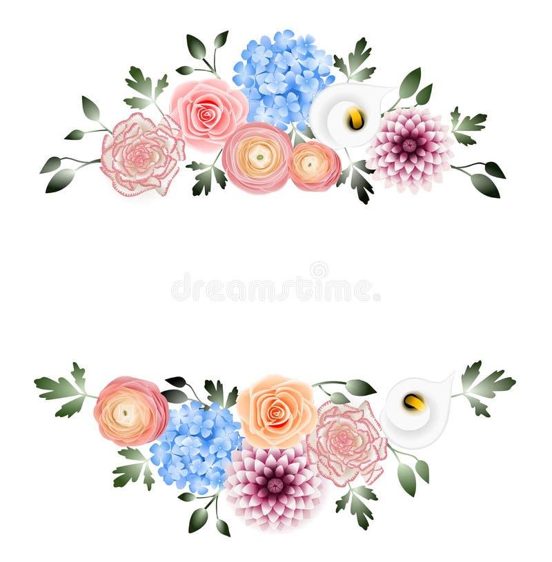 Blumendekorationsfahne lizenzfreie stockbilder