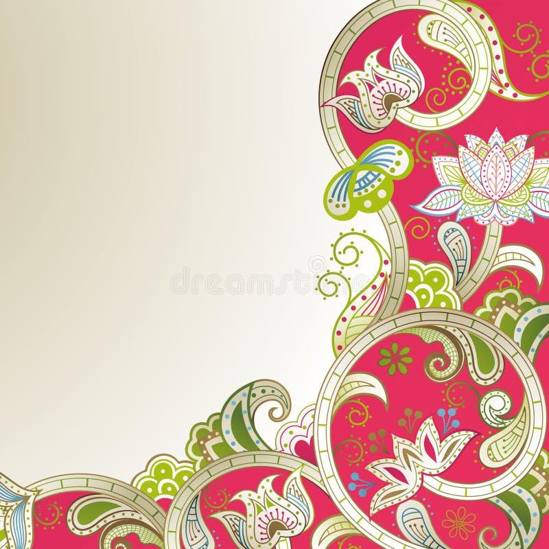 Download Blumenecke stock abbildung. Illustration von blatt, elegant - 26353474