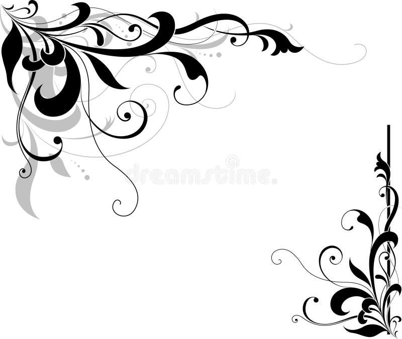 Blumenecke vektor abbildung