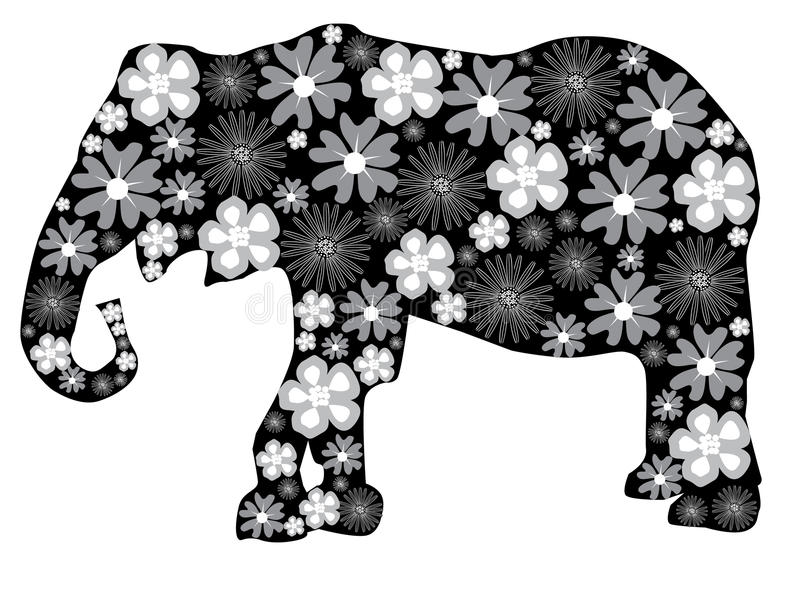 Blumenelefant vektor abbildung