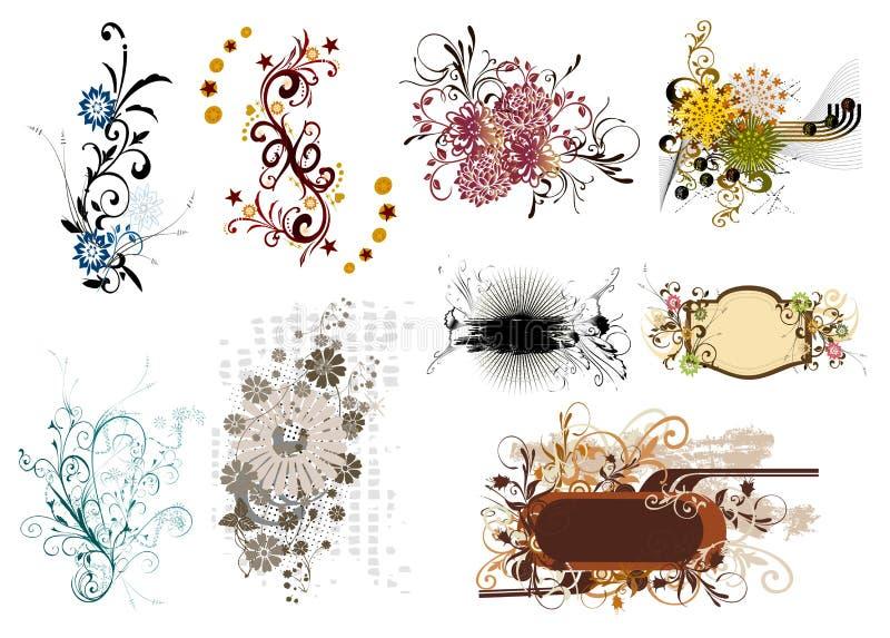 Blumenelement für Auslegung vektor abbildung