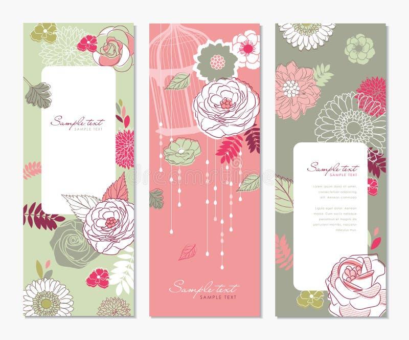 Blumenfahnen stock abbildung