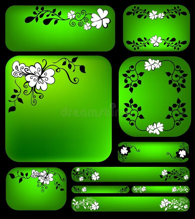 Blumenfahnenset lizenzfreie abbildung
