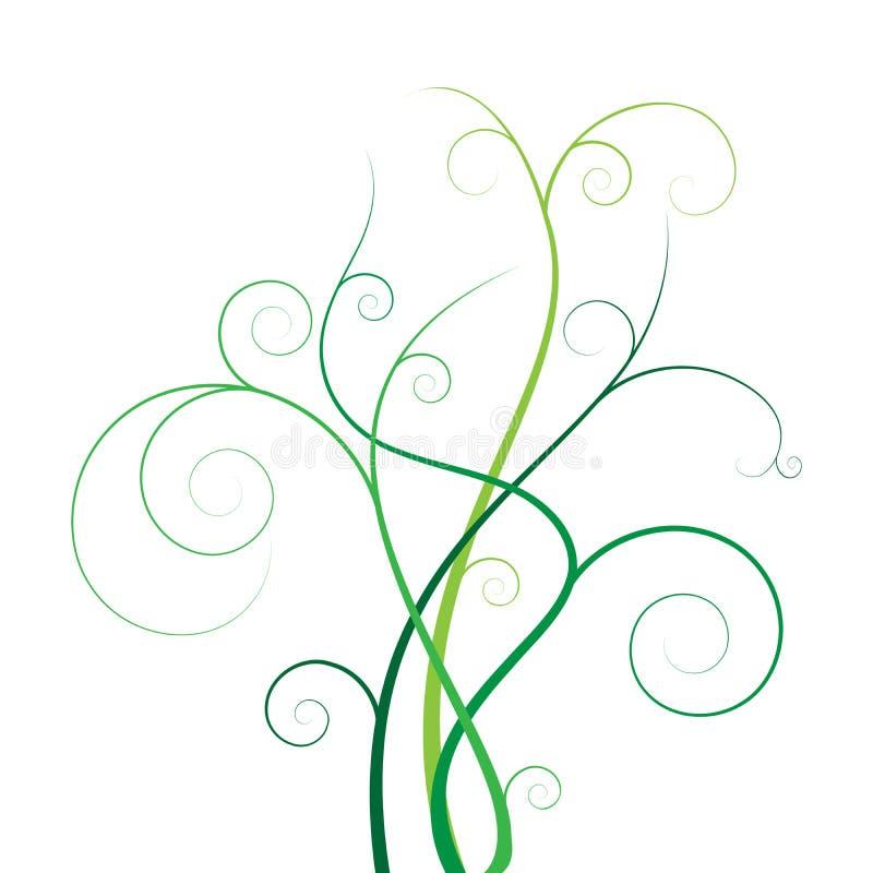 Blumenfahnenvektor vektor abbildung