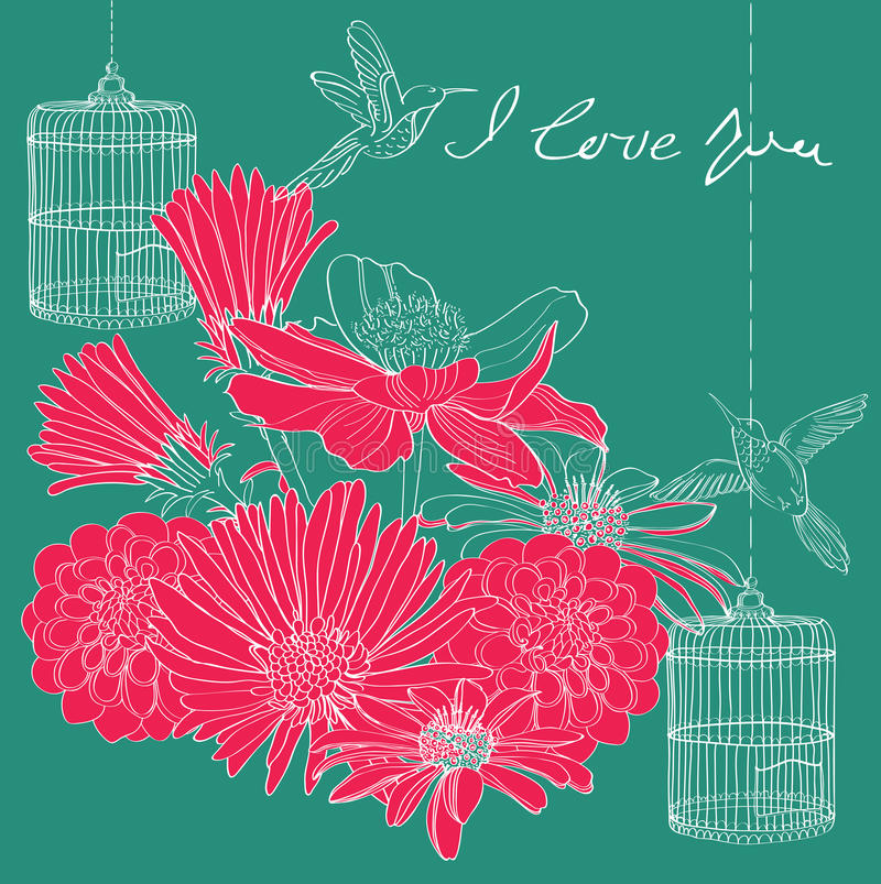 Blumenfeiertag Valentinsgrußkarte Lizenzfreie Stockfotos