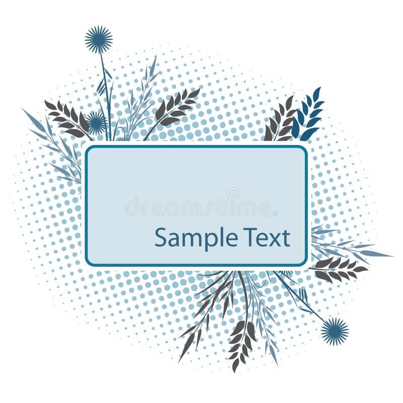 Blumenfeld für Text lizenzfreie abbildung