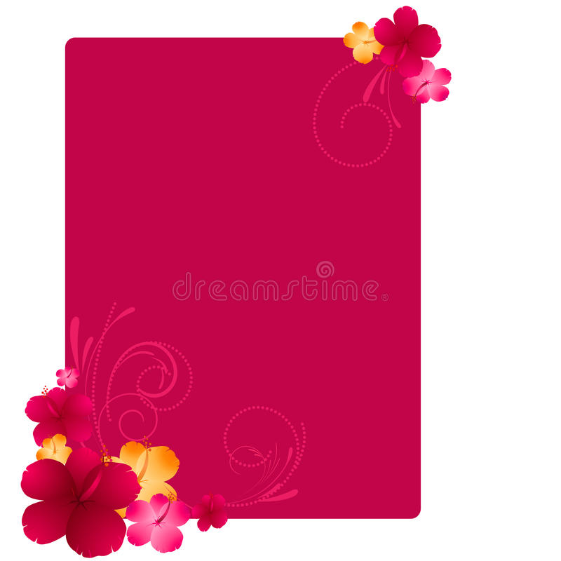 Blumenfeld mit Hibiscusblumen stock abbildung