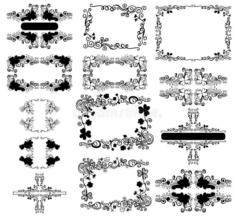 Blumenfelder vektor abbildung