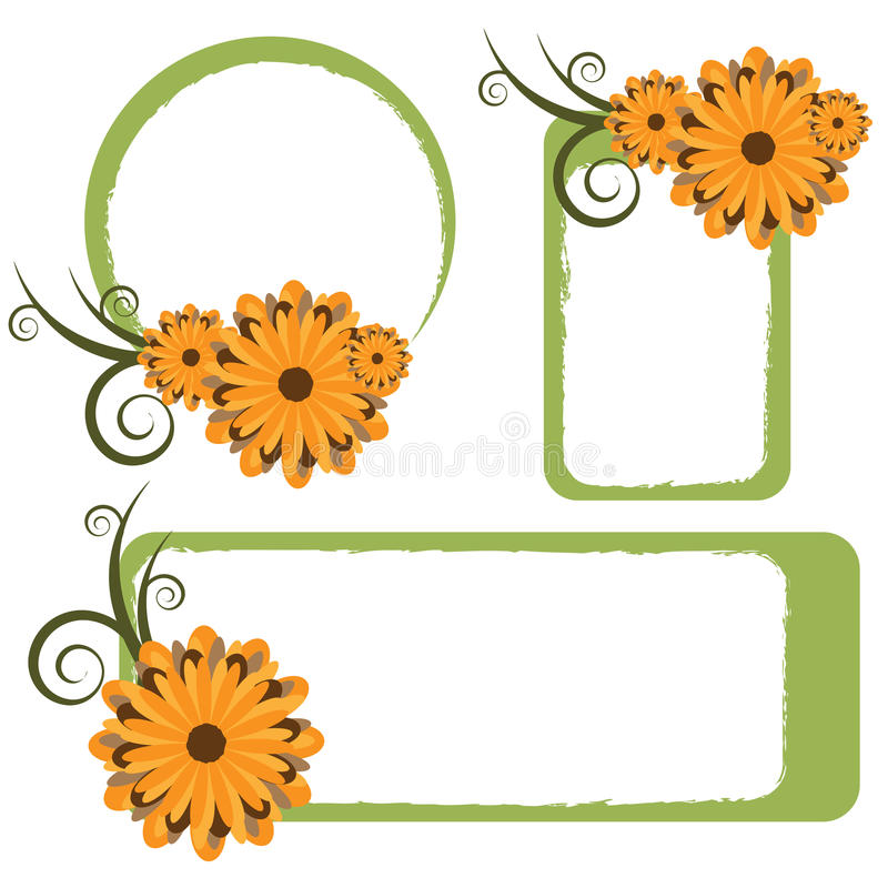Blumenfelder - Vektor vektor abbildung