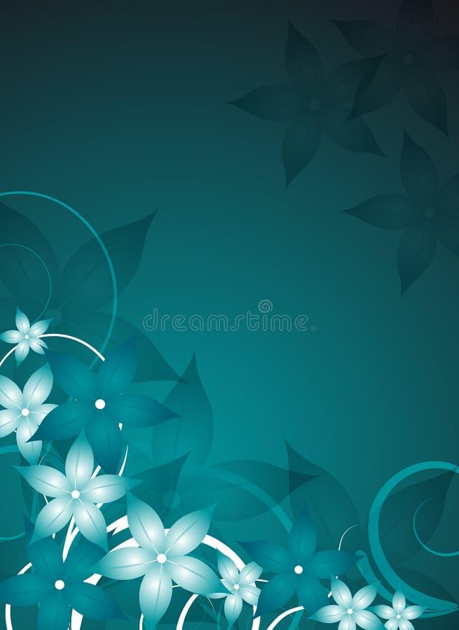 Blumenflugblatt stock abbildung