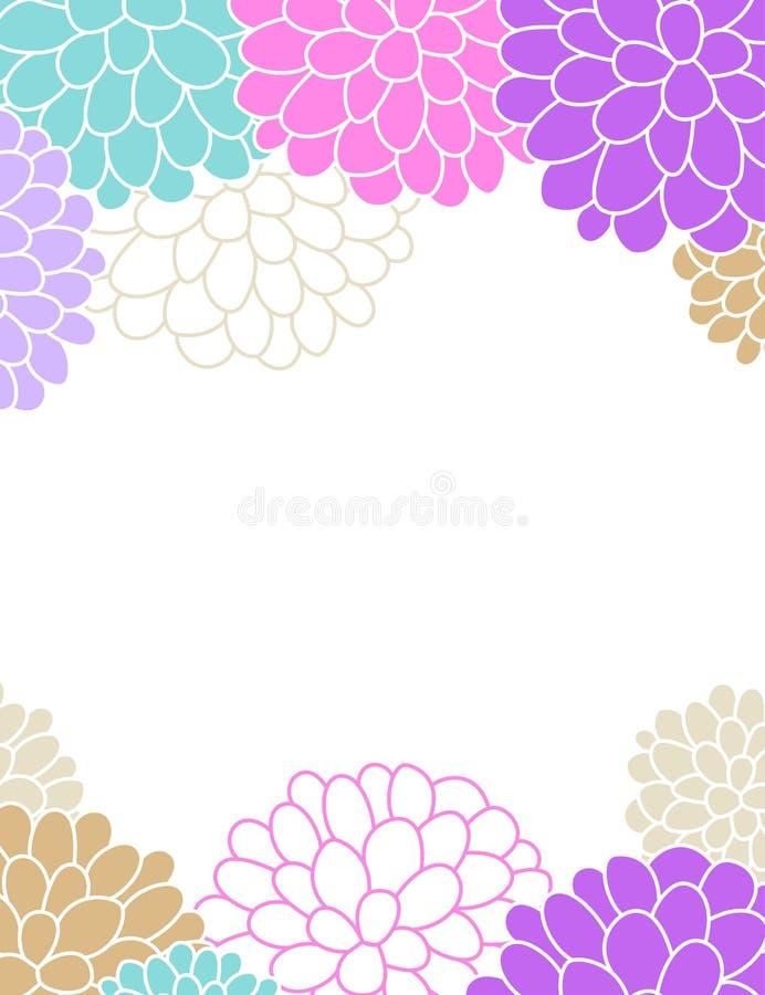 Blumenfrühling und themenorientiertes Fahnendesign des Sommers vektor abbildung