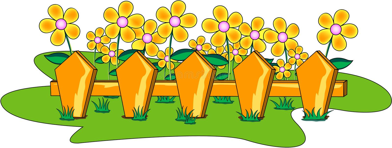 Blumengarten lizenzfreie abbildung