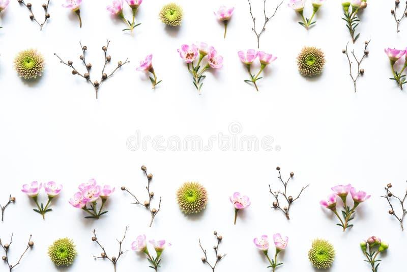 Blumengesteck auf weißem Hintergrund stockfoto