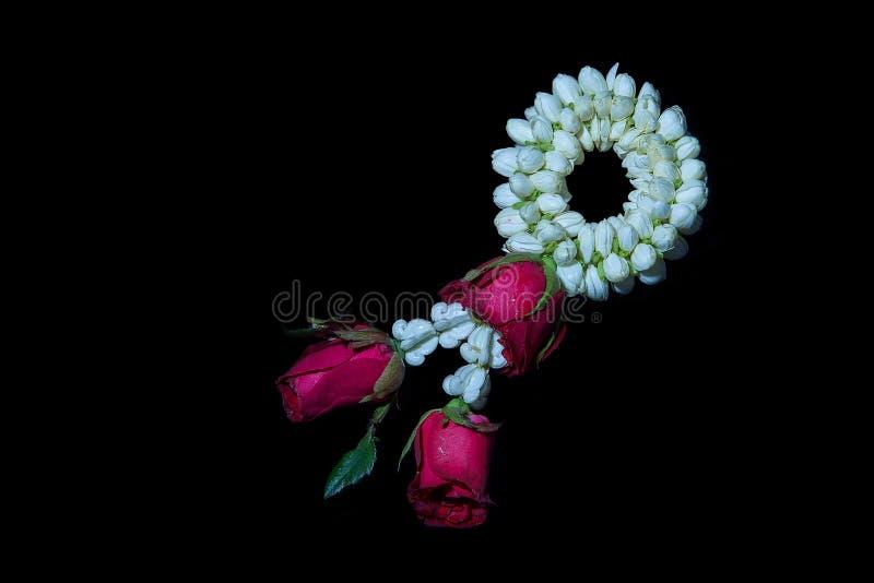 Blumengirlande stockbild