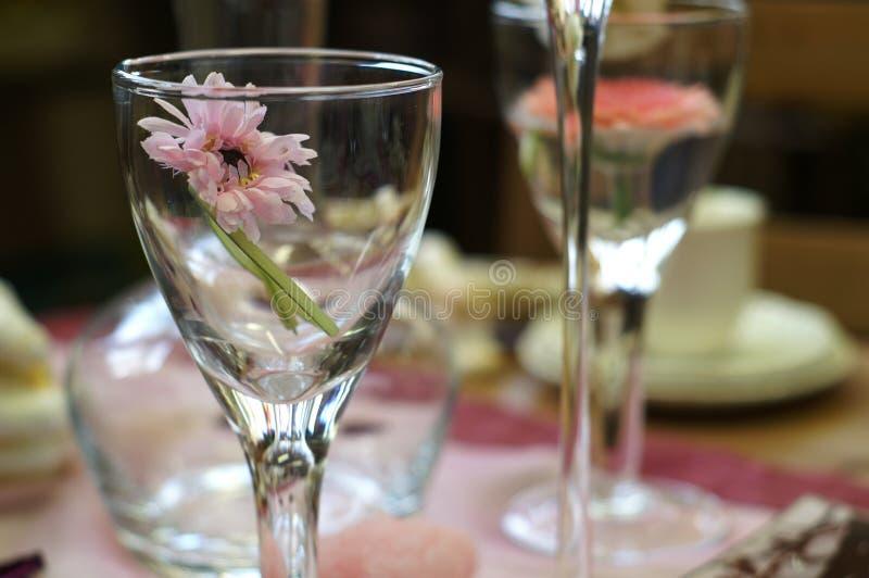 Blumenglas stockbilder