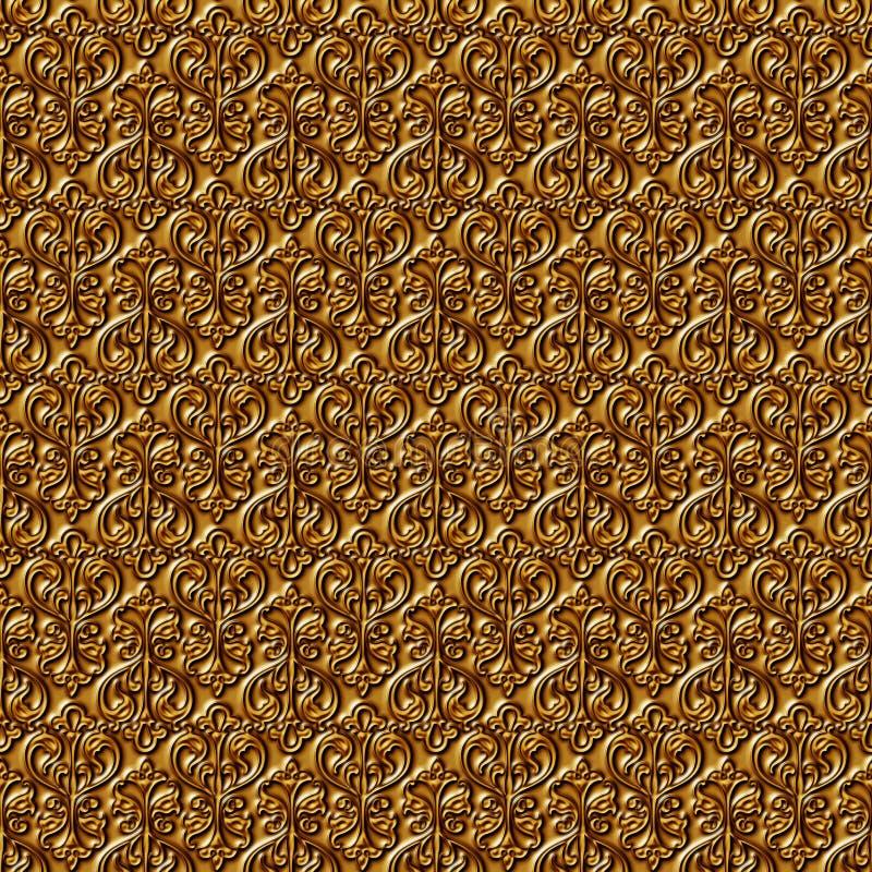 Blumengoldnahtloser Hintergrund. stock abbildung