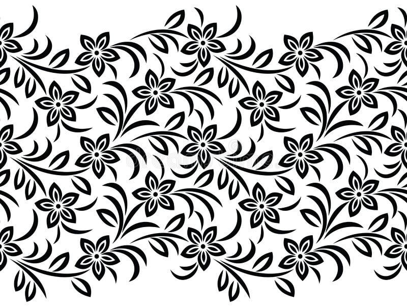 Blumengrenze des nahtlosen Vektors für Spitze lizenzfreie abbildung