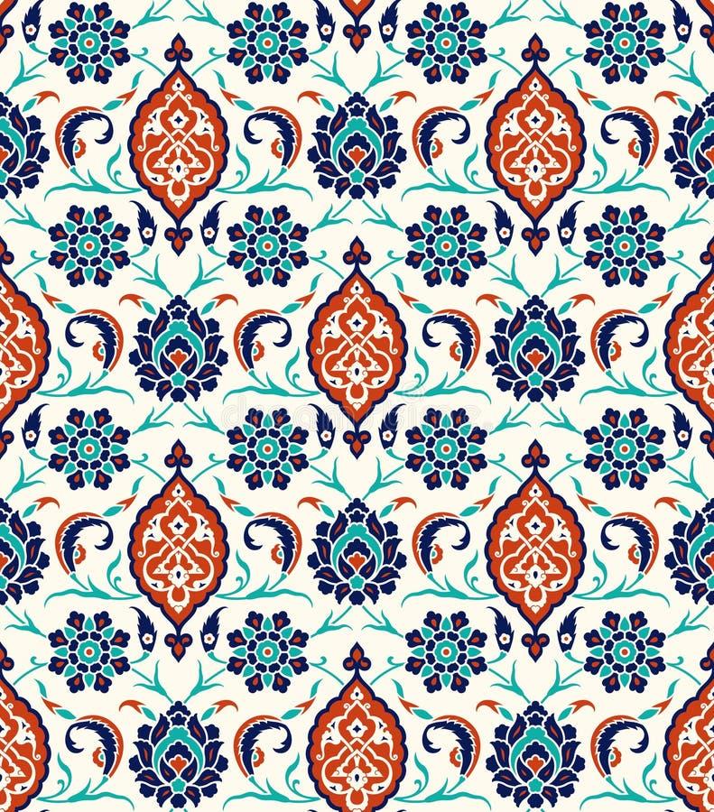 Blumengrenze für Ihr Design Nahtlose Verzierung traditioneller türkischer ï ¿ ½ Osmane Iznik stock abbildung