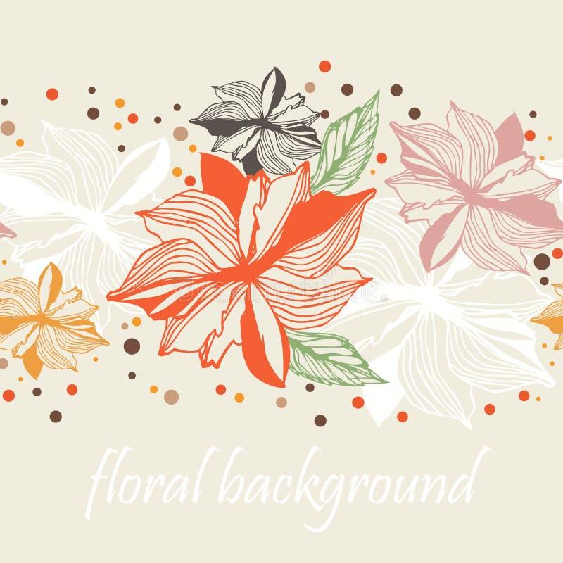 Download Blumengrenznahtloser Hintergrund Stock Abbildung - Illustration von exotisch, rand: 90226354