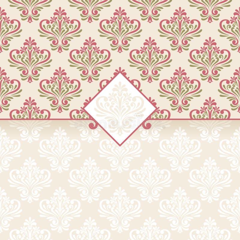Blumengrußkarte. lizenzfreie abbildung