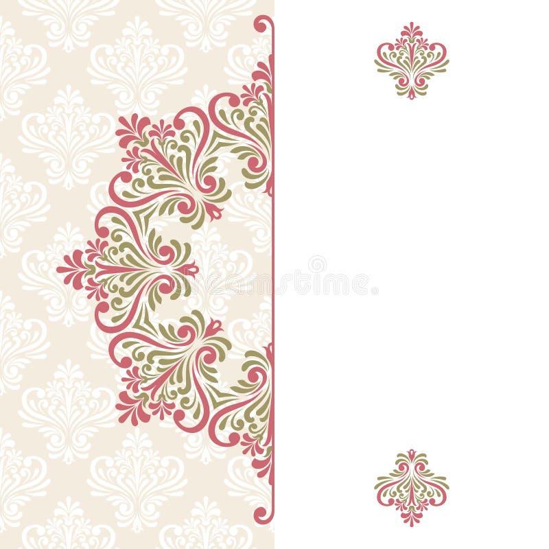Blumengrußkarte. vektor abbildung