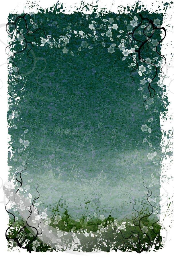BlumenGrunge Hintergrund lizenzfreie abbildung