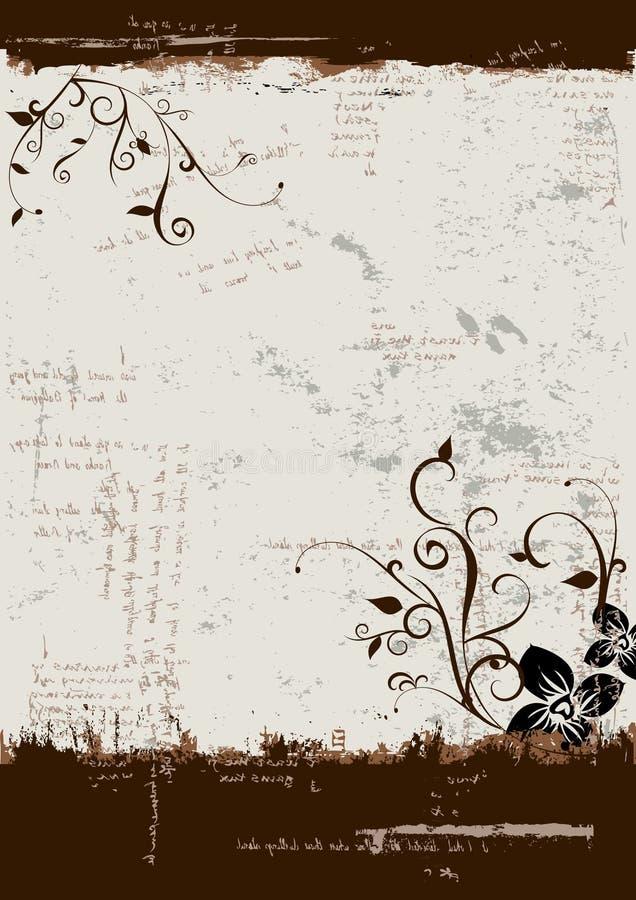 Blumengrunge Hintergrund stock abbildung