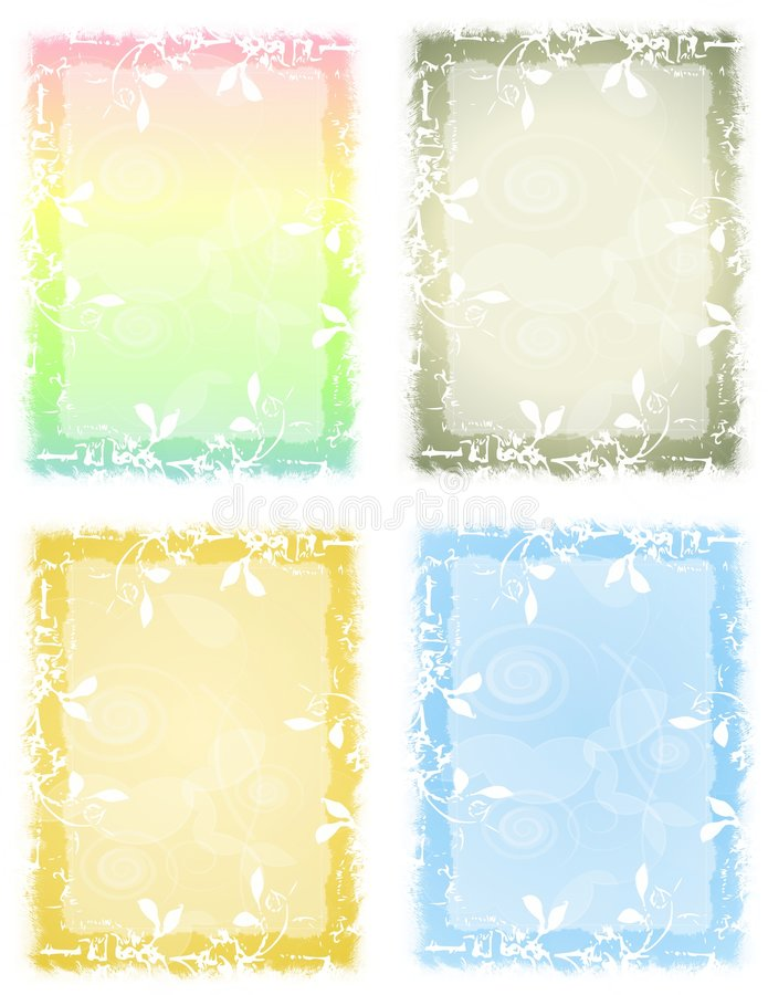 BlumenGrunge Pastell-Hintergründe stock abbildung