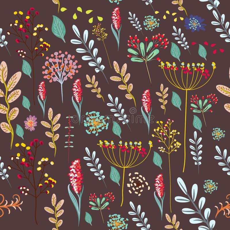 Blumengute Schwingungen der grußkarte mit buntem stock abbildung