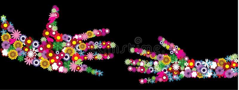 Blumenhände vektor abbildung
