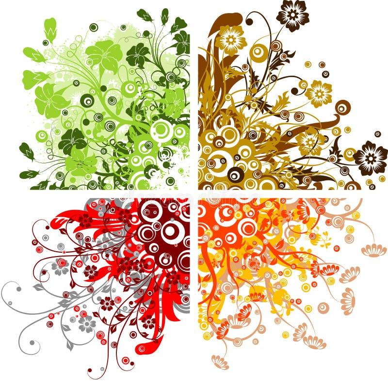 Blumenhintergründe, Vektor vektor abbildung