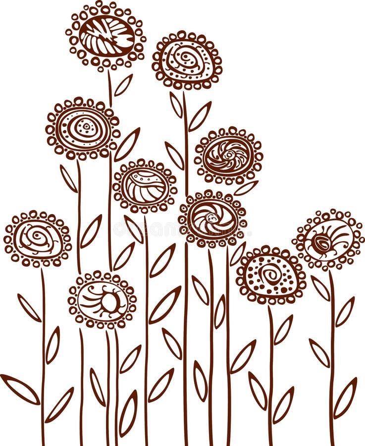 Blumenhintergrund. vektor abbildung