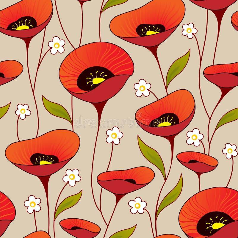 Blumenhintergrund der nahtlosen Weinlese lizenzfreie abbildung