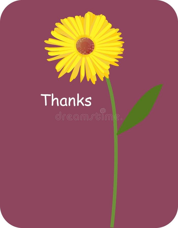 Blumenhintergrund für danke lizenzfreie abbildung