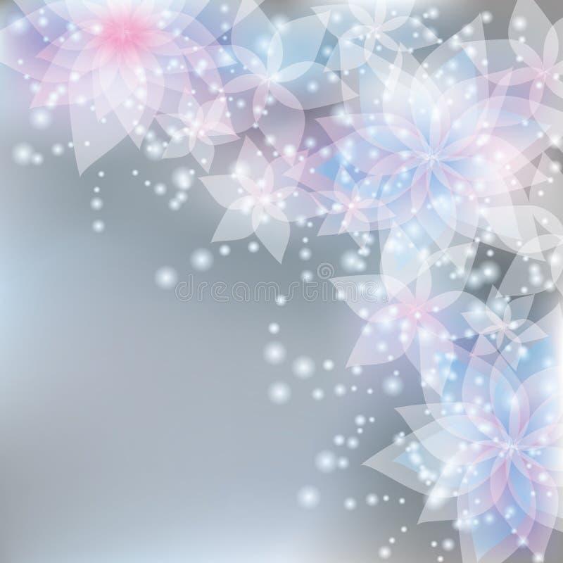 Blumenhintergrund-, Gruß- oder Einladungskarte vektor abbildung