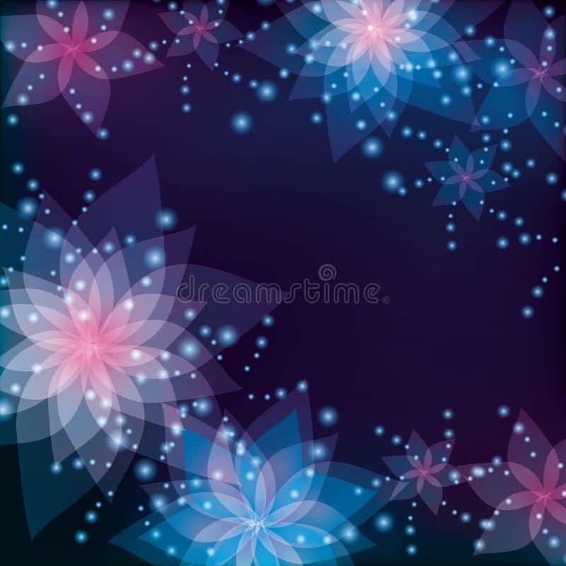 Blumenhintergrund-, Gruß- oder Einladungskarte stock abbildung