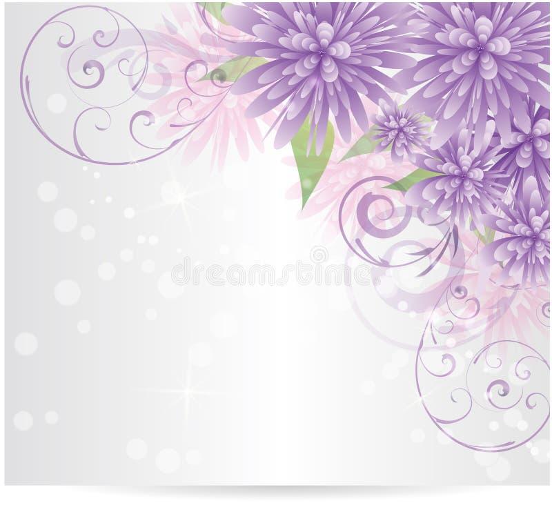 Blumenhintergrund mit abstrakten Blumen stock abbildung