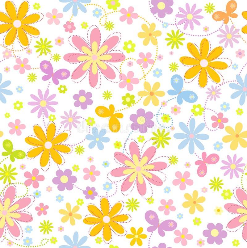Blumenhintergrund mit Basisrecheneinheit stock abbildung