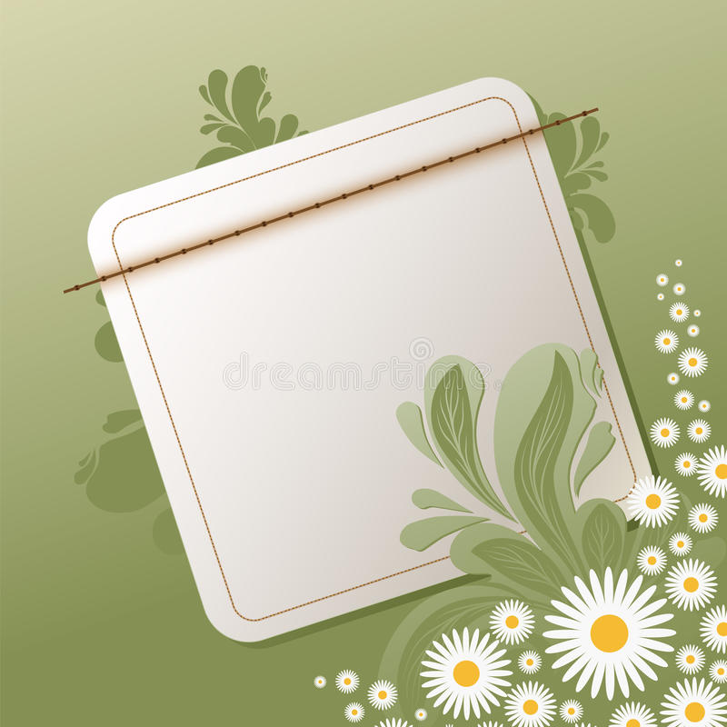 Blumenhintergrund mit leerer Anmerkung vektor abbildung