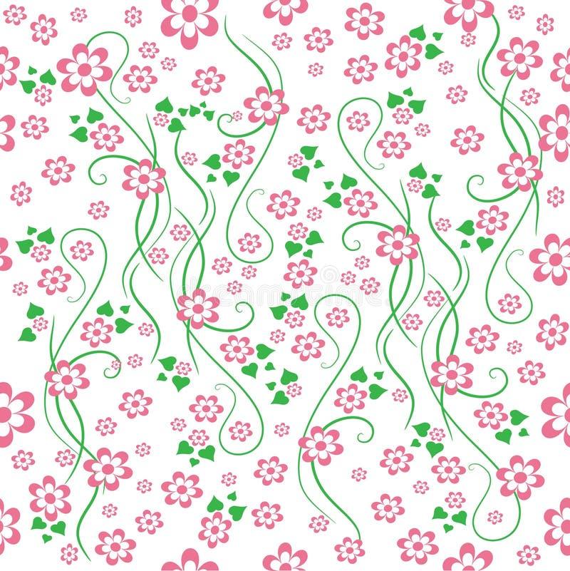 Blumenhintergrund. Nahtlos. stock abbildung