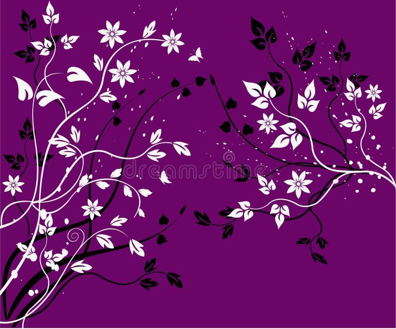 Blumenhintergrund - Vektor lizenzfreie abbildung