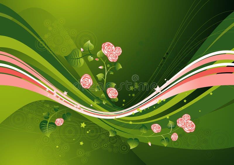 Blumenhintergrund, Vektor lizenzfreie abbildung