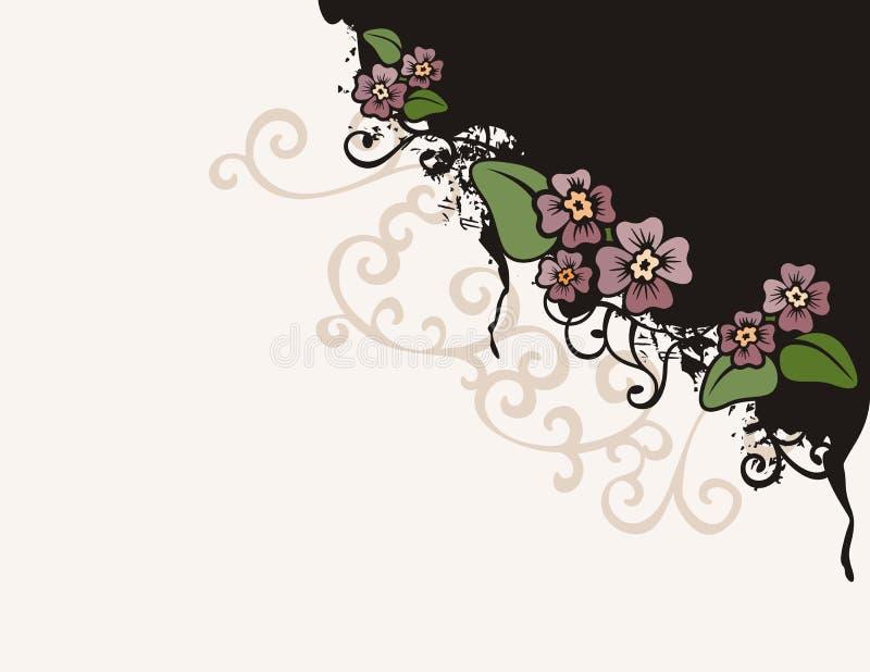 Blumenhintergrundserie stock abbildung