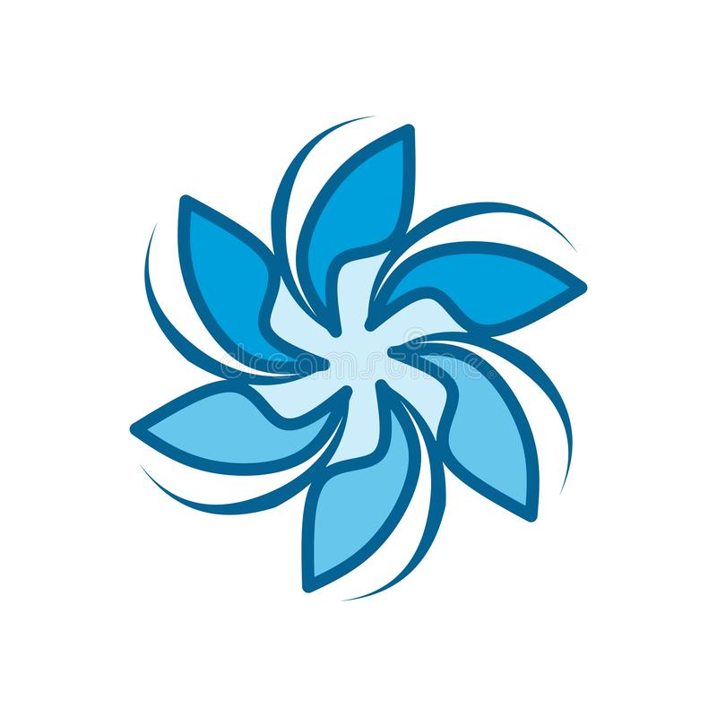 Blumenikone in der modischen Entwurfsart lizenzfreie abbildung