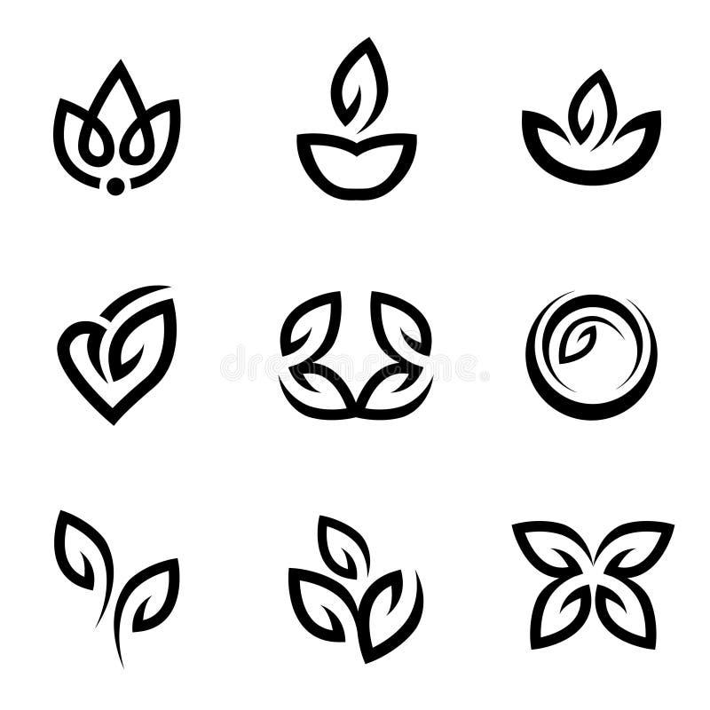 Blumenikonen vektor abbildung
