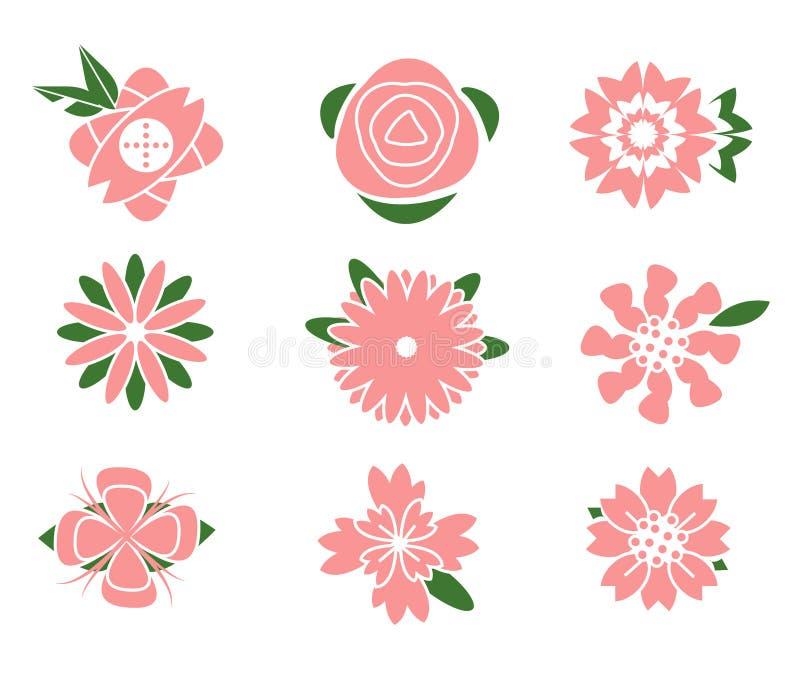 Blumenikonendesign stock abbildung