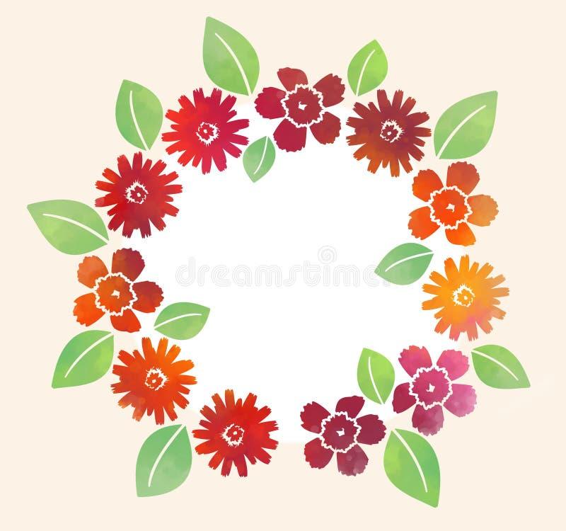 Blumenillustration im einfachen Hintergrund lizenzfreie abbildung